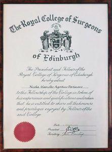 زمالة الكلية الملكية للجراحين في إدنبرة